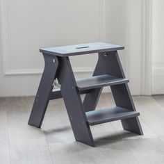 Reaching those top shelves and cupboards shouldn't be a strain. That's where our Step Stool comes in: sturdy, compact and foldable. Store away neatly in a cupboard or keep on show in the kitchen (it also makes a great seat to perch on). Available in urban Charcoal or delicate Lily White.