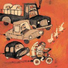 illustration from The Reddy by Rashin Kheyrieh