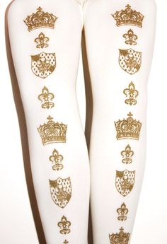 ☆☆☆ Tejajamilla - Tights in ivory and gold ☆☆☆