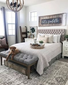 Are you looking for pictures for farmhouse bedroom? Check this out for perfect farmhouse bedroom pictures. This specific farmhouse bedroom ideas seems to be absolutely excellent. Farmhouse Master Bedroom, Master Bedroom Design, Dream Bedroom, Home Bedroom, Modern Bedroom, Bedroom Designs, Master Bedrooms, Romantic Master Bedroom Ideas, Master Bedroom Decorating Ideas