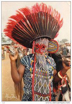 Coiffe de ceremonie Bamileke - Juju hat