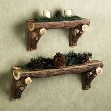 Timber Log Wall Shelf from Touch of Class. These are resin, but real log shelves would be cool. Love the idea.Rustic Timber Log Wall Shelf from Touch of Class. These are resin, but real log shelves would be cool. Love the idea. Timber Logs, Timber Walls, Wood Logs, Birch Logs, Raw Wood, Diy Wood Projects, Woodworking Projects, Woodworking Plans, Barrel Projects