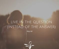 A question will always open up doors of awareness. An answer will always give…