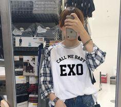 """""""Call Me Baby"""" EXO Long Sleeve Tee"""