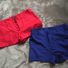 2 pairs of shorts! ❤️ Red forever 21 shorts size medium. Blue (Mine) medium shorts. You can have both pairs for the price of one!! Forever 21 Shorts