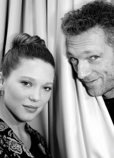 Vincent Cassel and Léa Seydoux by Nikos Aliagas, February 2014