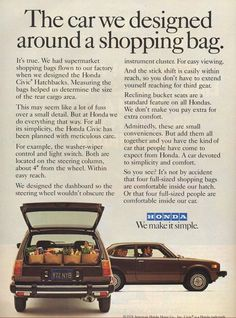 And we still look for the small conveniences to make driving a safer and more comfortable experience!  #honda #tbt 1978