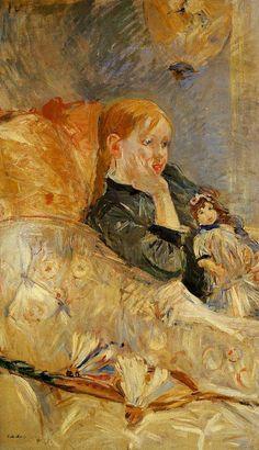 Little Girl with a Doll, 1886 - Berthe Morisot - (1841-1895).