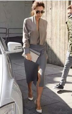 trendy ideas for style icons chic victoria beckham Fashion Mode, Office Fashion, Work Fashion, Womens Fashion, Fashion Design, Net Fashion, Style Fashion, Paris Fashion, Fashion Clothes