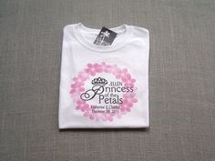 Princess of the Petals Personalized Flower Girl by TheKnottedPalm Cricut Wedding, Trending Outfits, T Shirts For Women, Handmade Gifts, Princess, Flower, Etsy, Vintage, Fashion