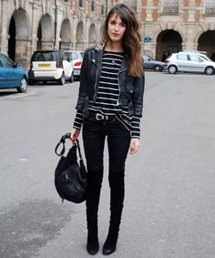 all-black-look-striped