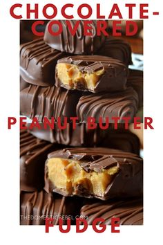 This Chocolate-Covered Peanut Butter Fudge is a GAME CHANGER!! Smooth, soft and creamy peanut butter fudge coated in rich milk chocolate shell. Super easy and SUCH a unique candy idea!! Fudge Recipes, Best Dessert Recipes, Fun Desserts, Baking Recipes, Holiday Recipes, Chocolate Desserts, Melting Chocolate, Chocolate Heaven, Fudge Ingredients