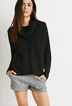 Contemporary Ribbed Cowl Neck Sweater | Forever 21 - 2000119984