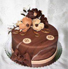 Čokoládový torta pre dvoch oslávencov. Autorka: stanula. Tortyodmamy.sk