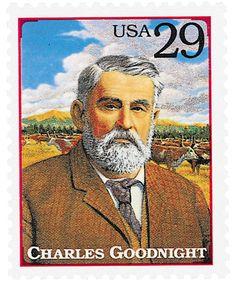 1994 29c Charles Goodnight Single Charles Goodnight Stamp Texas History