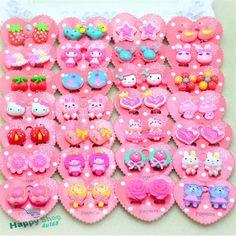 1 Pair Fake Non-Piercing Cartoon Cute Clip-On Earrings for Kids Teen Girls  #Happyshop4u168 #FakeClipon