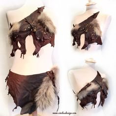 """ZIMA"" Leather topPerfect costume for Burning man - wasteland - mad max - postapocalyptic"