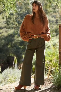 Summer Office Outfits, Summer Workout Outfits, Boho Work Outfit, Hippie Outfits, Earthy Outfits, Casual Outfits, Work Outfits, Modest Outfits, Wide Pants