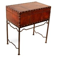 Sarreid Check out this item at One Kings Lane! Lucinda Leather Box Table