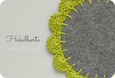 Crochet on felt tutorial. Tutorial per fer ganxet sobre feltre