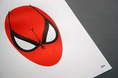 Spider Boobs Letterpress Print