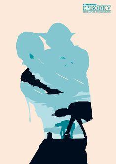 Minimalist Poster for Star Wars Episode V - The Empire Strikes Back.