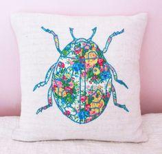 Stunning Lady Bird Cushion, by Bobbin & Bumble via Folksy, £18.00