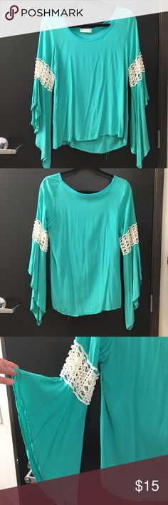 Green long sleeved blouse Green long sleeved blouse. Size small. From Altar'd State Altar'd State Tops Blouses
