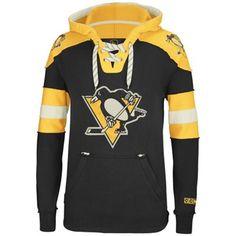 Reebok Pittsburgh Penguins CCM Pullover Hoodie - Black