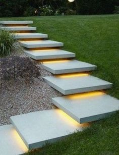 DIY Outdoor LED Strip Lighting Stairs and Toe Kick Design Your way More from my siteOutdoor Led light strip RGBW Color Changing + White LED Strip Light. Modern Landscape Design, Modern Landscaping, Backyard Landscaping, Landscaping Ideas, Landscape Architecture, Landscape Steps, Landscape Concept, Patio Ideas, Backyard Landscape Design