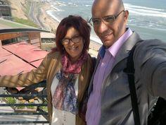 Con Elisa en Miraflores