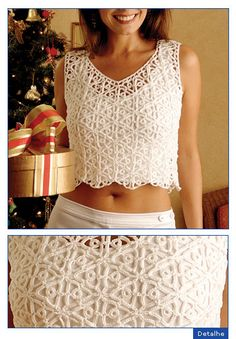 Irish lace, crochet, crochet patterns, clothing and decorations for the house, crocheted. T-shirt Au Crochet, Cardigan Au Crochet, Pull Crochet, Mode Crochet, Crochet Crop Top, Crochet Woman, Crochet Blouse, Irish Crochet, Crochet Stitch