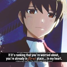 The World God Only Knows - sweet love quotes. This really reminds me of Amon and Lily when they were parting.