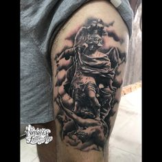 Reastic angel tattoo