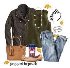 """""""Hungry for an olive (green)"""" by prepped-in-pearls ❤ liked on Polyvore featuring Kate Spade, J.Crew, Tory Burch, Lilly Pulitzer and David Yurman"""