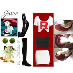 """Jessie Team Rocket cosplay"" by cosplay-er on Polyvore"