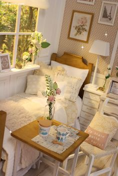 Nerea Pozo Art: ♥ Handmade miniature diorama CLOUD HEAVEN Bedroom ♥