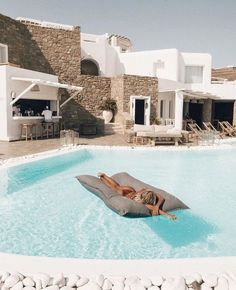 A swimming pool is an amazing asset to the home and a worthwhile investment for the summer months. Mykonos Hotels, Mykonos Greece, Santorini, Places To Travel, Travel Destinations, Places To Go, Ubud, Travel Goals, Dream Vacations