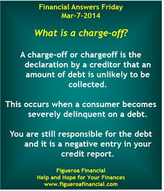 Welcome to Financial Answers Friday (Mar-7-2014)! #charge-off