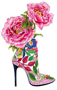 Sunny Gu pink peonies Barbara Bui
