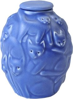 Cat Cremation Urn: Periwinkle