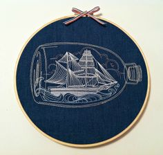 Ship in a bottle | from Urban Threads http://www.urbanthreads.com/products.aspx?productid=UT2645