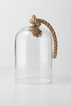 This would be perfect for the small sweets that needs to keep. Or a home to a fairy. Or to conceal a precious memory. Or fancy lighting in a room. Your creation and imagination. Rope cloche #anthropologie