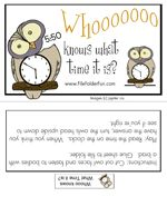 Telling Time File Folder Game: Whooooo Knows What Time It Is?