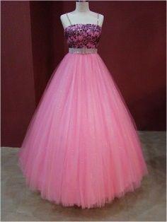 Rosa cintura império vestido Quinceanera