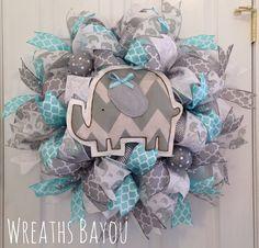 Baby Wreath Baby Girl Baby Boy Baby Shower Gift by wreathsbayou