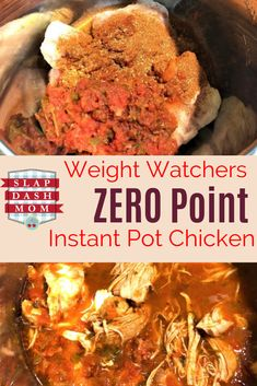 Running low on Weight Watcher points or just want a REALLY easy Instant Pot Chicken Recipe? Try this Simple Instant Pot Chicken! Simple ingredient list, mild or spicy, and the lime flavor is absolutely refreshing! ZERO POINTS if you are on the WW Freestyl Poulet Weight Watchers, Plats Weight Watchers, Weight Watchers Chicken, Weight Watchers Crockpot Chicken Recipe, Ww Recipes, Chicken Recipes, Cooking Recipes, Healthy Recipes, Beginner Recipes