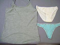 Smartwool 3 Lot Womens 1 Gray Cami 1 White Pantie 1 Green Thong Sz Medium 112 | eBay