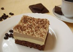 Cappuccino szelet Hungarian Desserts, Hungarian Recipes, My Recipes, Sweet Recipes, Cookie Recipes, Eastern European Recipes, Sweets Cake, Sweet And Salty, Food To Make