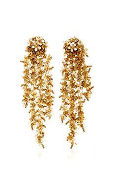 Get inspired and discover Oscar de la Renta trunkshow! Shop the latest Oscar de la Renta collection at Moda Operandi. Big Earrings, Clip On Earrings, Statement Earrings, Drop Earrings, Earings Gold, Crochet Jumpsuits, Latest Fashion Design, Fashion Designers, Fashion Trends